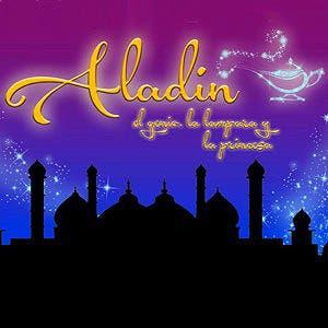 Afiche de Aladín, el genio, la lámpara y la princesa