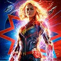 Afiche de Capitana Marvel 3D